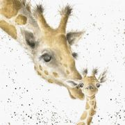 Wrendale First Kiss Giraffe Greeting Card
